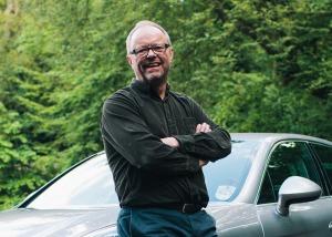 Robert Llewellyn '14 ev car show Orkney